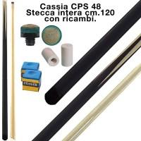 CPS Cassia 48 stecca intera cm.120 biliardo tutte le discipline con ricambi e omaggio.