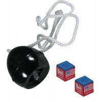 Portagesso versione De Luxe in pvc, colore nero, con corda cm. 60, con gesso omaggio.
