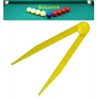 Biliardo accessori. compasso calibro in PVC lunghezza cm. 12 tascabile, per misurazioni nel gioco boccetta.