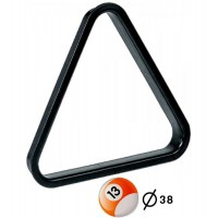 Triangolo in pvc per spacco gioco pool  bilie mm.38.