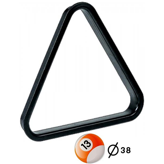 Triangolo in pvc per spacco gioco pool  bilie mm.38.