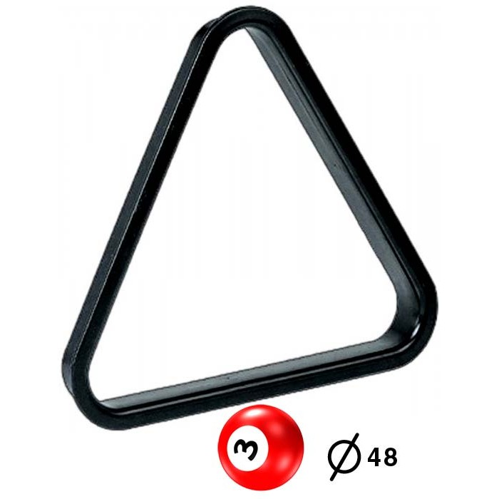 Triangolo in pvc per spacco gioco pool bilie Ø mm.48.
