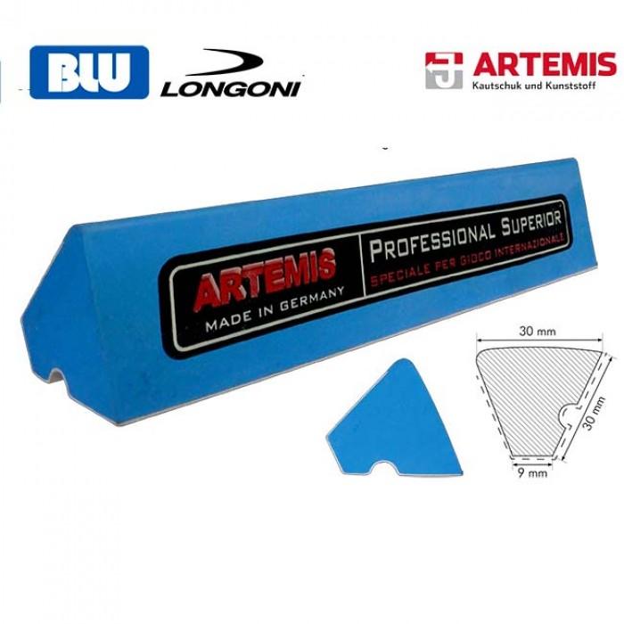 Sponda Blu Artemis Professional Superior lista gomma per biliardo internazionale senza buche profilo K79 singola 3 metri