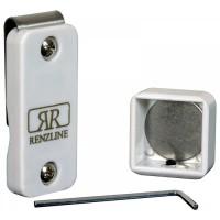 Renzi Line porta gesso biliardo magnetico Thai universale regolabile, bianco.