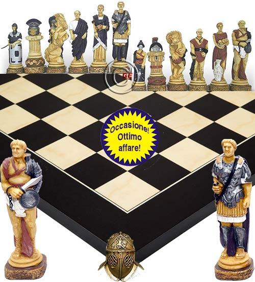 Completo scacchi artistici tematici in resina spartaco vs - Spartaco roma ...